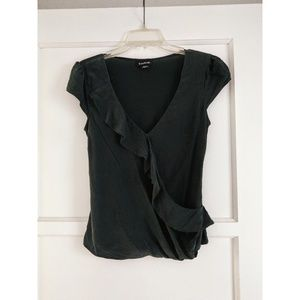 Green bebe blouse with ruffle